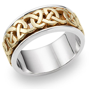 Caedman Celtic Wedding Band